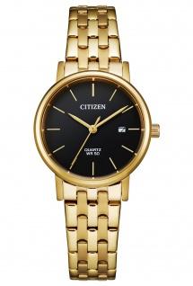 Citizen EU6092-59E Uhr Damenuhr Edelstahl Datum gold