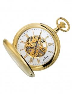 Dugena 4460307-1 Taschenuhr Savonette mit Kette Mechanisch Uhr silber