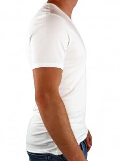 Calvin Klein Herren T-Shirt Kurzarm 2er Pack S/S V Neck Weiß L