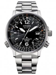 Citizen CB0230-81E Eco Drive Uhr Herrenuhr Titan Datum silber