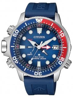 Citizen BN2038-01L Eco Drive Taucheruhr Diver´s Diver Uhr Datum blau - Vorschau 2
