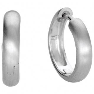 Basic Silber SO35 Herren Creolen Silber
