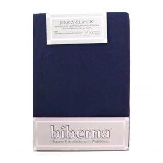 Biberna 77866-287 Jersey Elastic Spannbetttuch Saphir 90x190 100x220