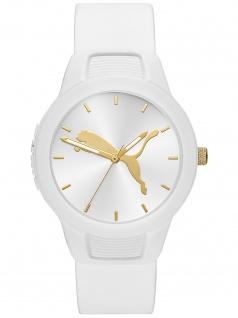 PUMA P1013 Uhr Damenuhr Plastik weiß