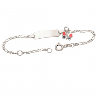 Basic Silber SAB26 Mädchen Armband Schmetterling Silber 14 cm