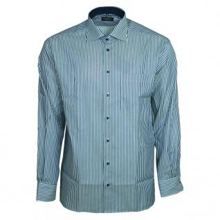 Eterna Herrenhemd Langarm Comfort Fit Blau Weiß gestreift Gr. L/42
