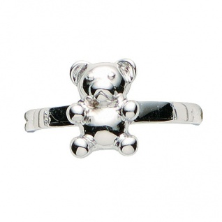 Basic Silber 53.KS106 Mädchen Ring Teddybär Silber 48 (15.3) - Vorschau 1