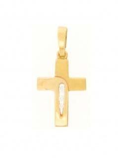 Gerry Eder 27.9181 Anhänger Kreuz 14 Karat (585) Gelbgold Gold Weiß
