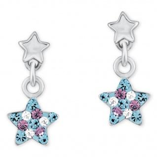 Prinzessin Lillifee 2013176 Mädchen Ohrstecker Sterne Silber Blau