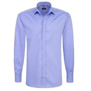 Eterna Herrenhemd Langarm Modern Fit Blau Gr. L/42 8100/12/X177