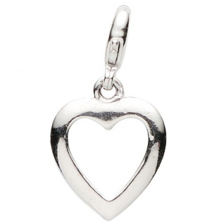 Basic Silber 22.VX134 Damen Charms Herz Silber
