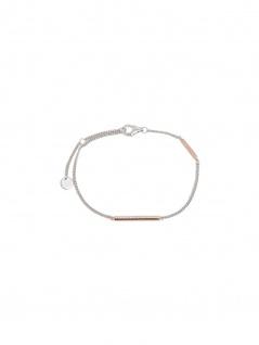 Esprit ESBR00731217 Damen Armband Even Bicolor Rose Weiß 21 cm