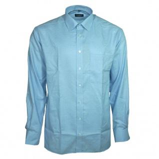 Eterna Herrenhemd Langarm Comfort Fit Blau kariert Gr. XXL/45