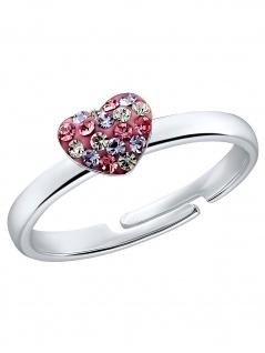 Prinzessin Lillifee 2031168 Mädchen Ring Herz 925 Silber 44 (14.0)