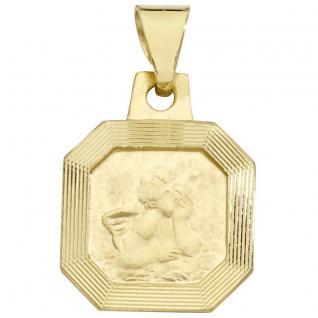 Basic Gold EN36 Kinder Anhänger Schutzengel 14 Karat (585) Gelbgold