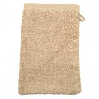 Waschhandschuh Sand Frottee 500g/m2 Waschlappen 15 x 21 cm