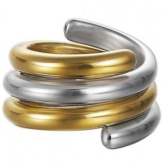 Esprit ESSE90969A Damen Ring swiveled bicolor Silber 925 50 (15.9)