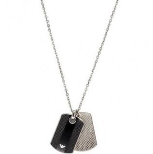 Emporio Armani EGS1542 Herren Halskette Edelstahl 55 cm mit Onyx