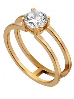 Esprit ESRG00101218 Damen Ring LillianGold Weiß 57 (18.1)
