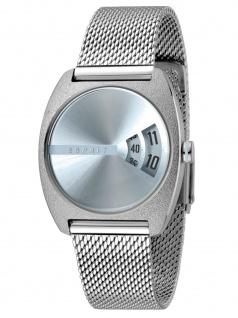 Esprit ES1L036M0045 Disc Blue Silver Mesh Damenuhr Edelstahl Silber