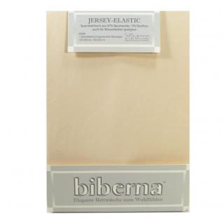 Biberna 77866-544 Jersey Elastic Spannbetttuch Taupe 180x200 200x220