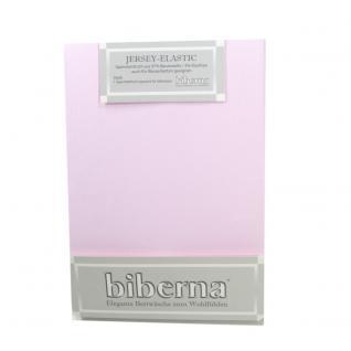 Biberna 77866-324 Jersey Elastic Spannbetttuch Flieder 90x190 100x220