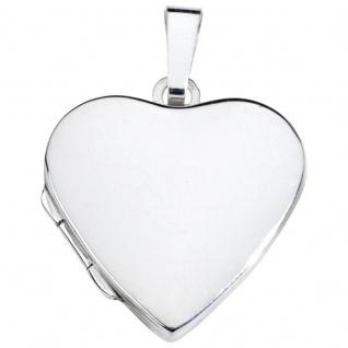 Basic Silber SL04 Damen Anhänger Herz Medaillon Silber