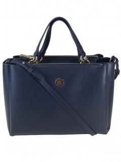Tommy Hilfiger Damen Handtasche Tasche Effortless Tommy SM Blau