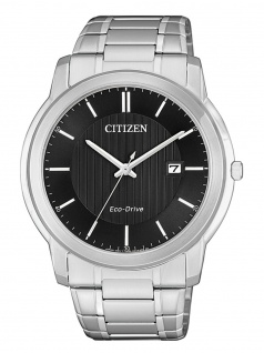 Citizen AW1211-80E Eco Drive Uhr Herrenuhr Edelstahl Datum Silber