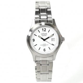 Cosmo 33004RMB-weiß Uhr Herrenuhr Edelstahl Datum weiß