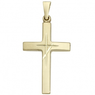 Basic Gold K02 Herren Anhänger Kreuz 14 Karat (585) Gelbgold