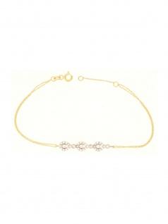 Gerry Eder 42.EG102 Damen Armband 14 Karat (585) Gold Weiß 19 cm