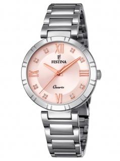 FESTINA F16936/C Uhr Damenuhr Edelstahl Silber