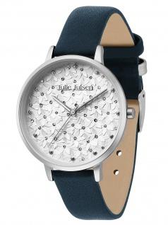 Julie Julsen JJW1066SL-12 Petals silver petrol Uhr Damenuhr Leder grün