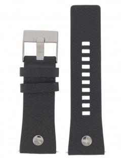 Diesel Uhrenarmband LB-DZ7348 Original Ersatzband Leder 28 mm Schwarz