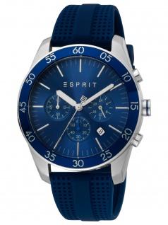 Esprit ES1G204P0045 Jordan D. blue Herrenuhr Kautschuk Chrono Datum