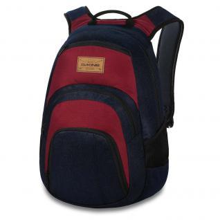 """Dakine 8130056-Denim Campus 25L Blau Rot Laptop 14"""" Rucksack Schule"""