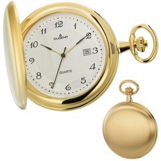 DUGENA 4460302 Taschenuhr Savonette mit Kette gold