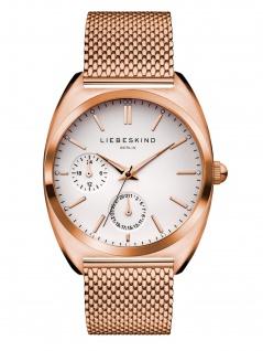 LIEBESKIND LT-0039-MM Uhr Damenuhr Edelstahl Datum Rose