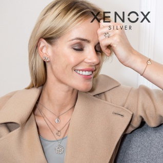 XENOX XS7087 Damen Ring Silver Circle Silber weiß 54 (17.2) - Vorschau 2