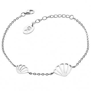 GOOIX 914-06369 Damen Armband Muschel Sterling-Silber 925 Silber 20 cm