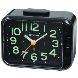 RHYTHM CRA839WR02 Glockenwecker Uhr Alarm Schwarz
