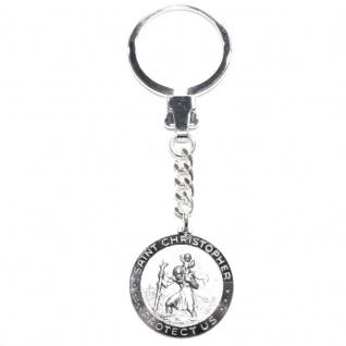 Basic Silber ALP01 Herren Schlüsselanhänger Heilger Christopherus