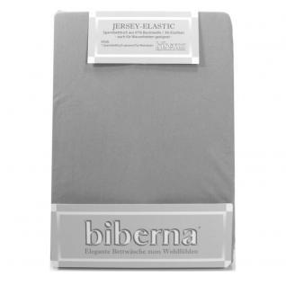 Biberna 77866 Jersey Elastic Spannbetttuch Quarzgrau 180x200 200x220