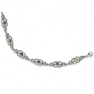 Tom Hill 41.9004 Armband Silber Trachtenschmuck Granat rot 20, 5 cm