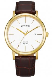 Citizen BI5072-01A Uhr Herrenuhr Lederarmband Datum braun