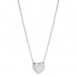 Engelsrufer ERN-ORNAHEART Damen Collier Ornament Herz Silber 45 cm
