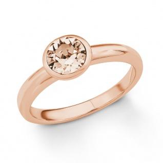s.Oliver 2018666 Damen Ring Sterling-Silber 925 Rose Beige 52 (16.6)