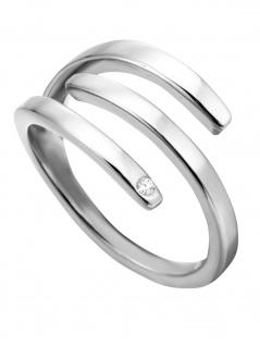 Esprit ESRG00161417 Damen Ring Iva Silber Weiß 54 (17.2)