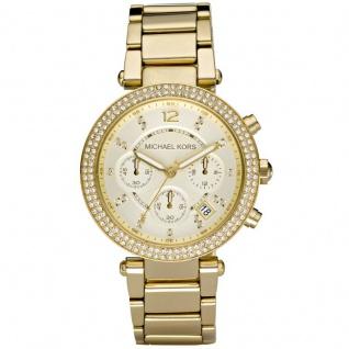 Michael Kors MK5354 PARKER Chronograph Uhr Damenuhr Edelstahl gold